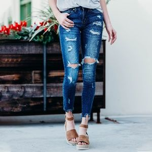 Kancan Distressed Denim Jeans
